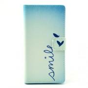 Δερμάτινη Θήκη Πορτοφόλι με Βάση Στήριξης για Sony Xperia M2 D2305 / M2 Dual D2302 - Μοτίβο Smile και Καρδιά