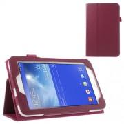 Δερμάτινη Θήκη Βιβλίο με Βάση Στήριξης για Samsung Galaxy Tab 3 7.0 Lite T110 T111 - Φούξια