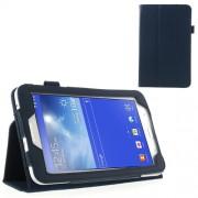 Δερμάτινη Θήκη Βιβλίο με Βάση Στήριξης για Samsung Galaxy Tab 3 7.0 Lite T110 T111 - Σκούρο μπλε
