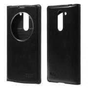 Δερμάτινη Θήκη Βιβλίο Smart Cover με Ενσωματωμένο Καπάκι Μπαταρίας για LG L Bello D331 D335 - Μαύρο