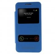 Δερμάτινη Θήκη Βιβλίο Smart Cover με Ενσωματωμένο Καπάκι Μπαταρίας για Samsung Galaxy Core 2 G355H - Γαλάζιο