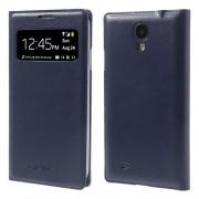 Δερμάτινη Θήκη Βιβλίο Smart Cover με Ενσωματωμένο Καπάκι Μπαταρίας για Samsung Galaxy S4 I9500 - Σκούρο μπλε