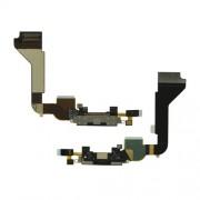 Θύρα Φόρτισης με Καλωδιοταινία για iPhone 4 4G - Μαύρο