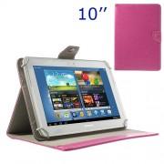 Universal Δερμάτινη Θήκη Βιβλίο με Βάση Στήριξης για iPad Air / Sony Xperia Tablet Z 10 ιντσών Tablet PC - Φούξια