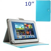 Universal Crazy Horse Leather Cover w/ Stand for iPad Air / Sony Xperia Tablet Z 10-inch Tablet PC - Blue