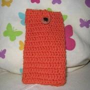 Crochet Pouche for iPhone 5 / 5s / 5c / Galaxy S4 mini / s3 mini - Orange