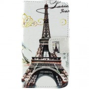 Leather Stand Case for Samsung Galaxy Core 2 G355H - Eiffel Tower