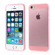 Transparent Soft TPU Cover Shell for iPhone 5 5s - Pink