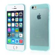 Γυαλιστερή Θήκη Σιλικόνης TPU για iPhone 5 5s Ημιδιάφανη - Γαλαζοπράσινο