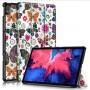 Δερμάτινη Θήκη Βιβλίο Tri-Fold με Βάση Στήριξης για Lenovo Tab P11 TB-J606F - Πεταλούδες και Λουλούδια
