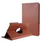 360 Degrees Rotating Stand Leather Case for Lenovo Tab P11 / Xiaoxin Pad 11-Inch TB-J606F - Brown