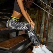 Γυναικείο Παντελόνι Κολάν για Γιόγκα και Άλλε Αθλητικές Δραστηριότητες - Κίτρινο Μαύρο (μέγεθος Small)