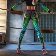 Γυναικείο Παντελόνι Κολάν για Γιόγκα και Άλλε Αθλητικές Δραστηριότητες - Φούξια Μαύρο (μέγεθος Small)
