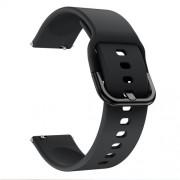 22mm Silicone Watch Strap Band for Samsung Galaxy Watch 46mm - Black
