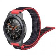 22mm Width  R800 Loop Fastener Nylon Weaven  Smart Watch Replacement Strap for Samsung Galaxy Watch 46mm - Black / Red