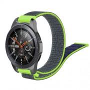 22mm Width  R800 Loop Fastener Nylon Weaven  Smart Watch Replacement Strap for Samsung Galaxy Watch 46mm - Blue / Green