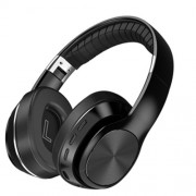Noise Canceling Headphones Bluetooth 5.0 Foldable Headset Over Ear Stereo Wireless Earphones for PC Cell Phones - Black