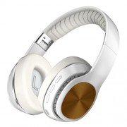 Noise Canceling Headphones Bluetooth 5.0 Foldable Headset Over Ear Stereo Wireless Earphones for PC Cell Phones - White