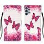 Δερμάτινη Θήκη Πορτοφόλι με Βάση Στήριξης για Samsung Galaxy A32 4G (EU Version) - Πεταλούδες