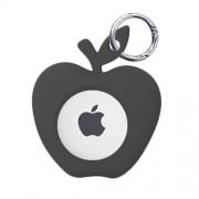 A002 Θήκη Σιλικόνης Σχέδιο Ζωάκι για το Apple AirTag Locator Tracker - Μαύρο