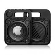 Θήκη Σιλικόνης TPU Σχέδιο Πανκ για Apple AirTag - Μαύρο