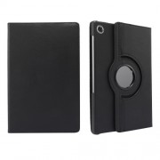 360° Swiveling Stand Design Litchi Texture Leather Case for Lenovo Tab M10 Plus - Black
