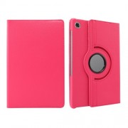 360° Swiveling Stand Design Litchi Texture Leather Case for Lenovo Tab M10 Plus - Rose