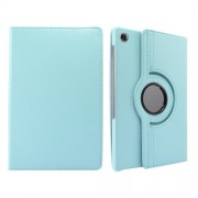 360° Swiveling Stand Design Litchi Texture Leather Case for Lenovo Tab M10 Plus - Baby Blue