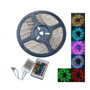 JIAWEN 5m 300 x 5050 SMD RGB Ταινία με LED Φώτα και Remote Controller 24 Πλήκτρων