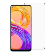 Full Coverage Silk Printing Full Glue Tempered Glass Screen Protector for Realme 8 / 8 Pro