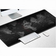Patterned Super Large Size Soft Rubber Computer Mouse Mat. Size: 400*900*2mm - World Map