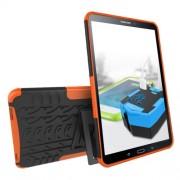 Cool Tyre Kickstand PC TPU Hybrid Shell for Samsung Galaxy Tab A 10.1 (2016) T580 T585 - Orange