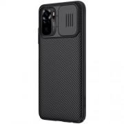 NILLKIN CamShield Σκληρή Θήκη με Πορτάκι για την Κάμερα για Xiaomi Redmi Note 10 4G / Note 10S - Μαύρο