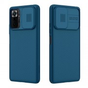 NILLKIN CamShield Σκληρή Θήκη με Πορτάκι για την Κάμερα για Xiaomi Redmi Note 10 Pro / Redmi Note 10 Pro Max - Μπλε