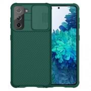 NILLKIN CamShield Σκληρή Θήκη με Πορτάκι για την Κάμερα για Samsung Galaxy S21 5G - Πράσινο