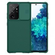 NILLKIN CamShield Σκληρή Θήκη με Πορτάκι για την Κάμερα για Samsung Galaxy S21 Ultra 5G - Πράσινο