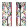 Δερμάτινη Θήκη Πορτοφόλι με Βάση Στήριξης για Samsung Galaxy A02s - Δέντρο με Πολύχρωμα Φύλλα