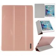 AMORUS Θήκη Βιβλίο Tri-Fold με Βάση Στήριξης για iPad Air 2 / iPad Air (2013) / iPad 9.7 (2018) / iPad 9.7 (2017) - Ροζέ Χρυσαφί