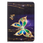 Tablet Case for iPad mini (2019) 7.9 inch Pattern Printing PU Leather Wallet Stand Shell - Golden Butterflies