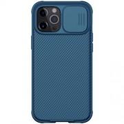 NILLKIN CamShield Σκληρή Θήκη με Πορτάκι για την Κάμερα για iPhone 12 Pro Max - Μπλε