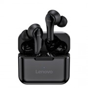 LENOVO QT82 Wireless Bluetooth Earphones V5.0 Touch Control Stereo HD Voice Earphones with Charging Bin - Black
