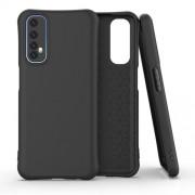 Matte TPU Back Cell Phone Case for Realme 7 - Black