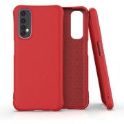 Matte TPU Back Cell Phone Case for Realme 7 - Red