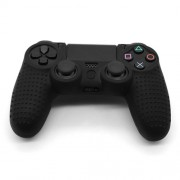 Anti-Slip Grip Silicone Cover Protector Case for PS4 Controller - Black