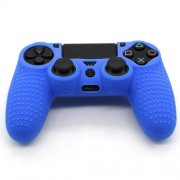 Anti-Slip Grip Silicone Cover Protector Case for PS4 Controller - Blue