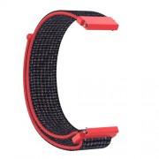 20mm Loop Fastener Nylon Weaven  Smart Watch Strap for Huami Amazfit GTR 42MM / Amazfit GTS - Red/Black