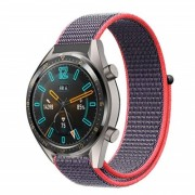 22mm Soft Breathable Nylon Sport Loop Wrist Band Strap for Huawei Watch GT/Watch 2 Pro/Honor Watch Magic - Red