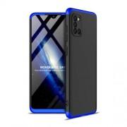 GKK 360 μοιρών Σκληρή Θήκη Ματ με Βελούδινη Υφή Πρόσοψης και Πλάτης για Samsung Galaxy A31 - Μπλε / Μαύρο