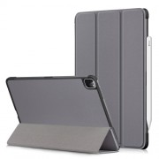 Litch Skin PU Leather Tri-fold Stand Tablet Case for iPad Pro 11-inch (2020) / (2018) - Grey