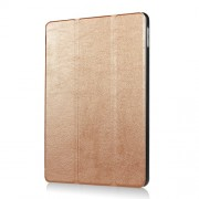 Tri-fold Stand Smart Leather Protective Case for iPad 9.7 (2018) / 9.7 (2017) - Gold